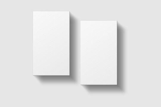 Realistic blank vertical business card illustration for mockup