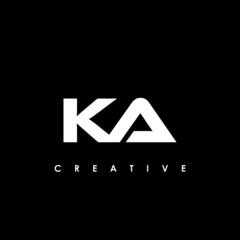 Obraz KA Letter Initial Logo Design Template Vector Illustration - fototapety do salonu