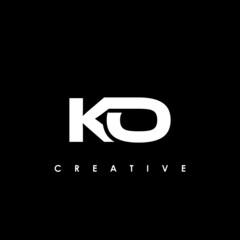 Obraz KO Letter Initial Logo Design Template Vector Illustration - fototapety do salonu