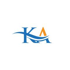 Obraz Modern KA logotype for luxury branding. Initial KA letter business logo design vector - fototapety do salonu
