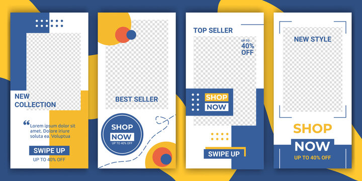 Editable ig story social media for sale discount and product promotion. Stories, posts and elements. Modern aesthetic elegant minimalistic style for social networks story. Vector illustration