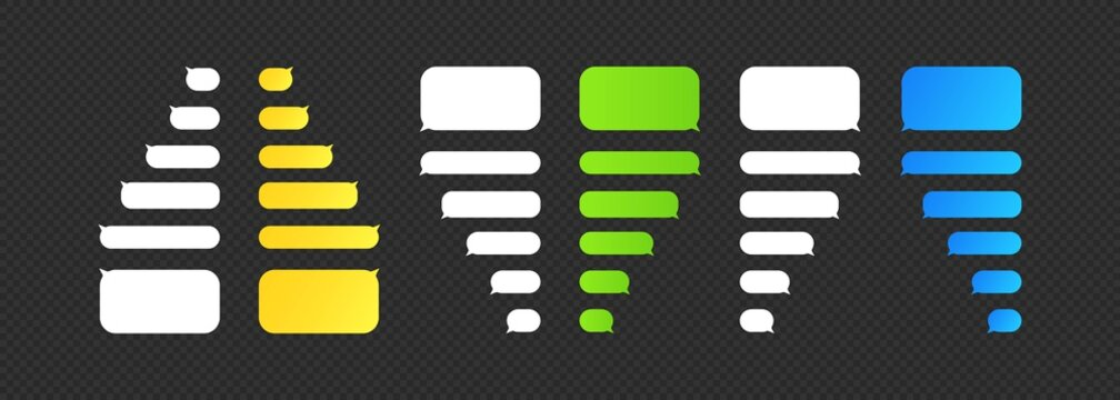 Message chat bubbles vector icons for phone chat. Vector on isolated background. EPS 10 vector