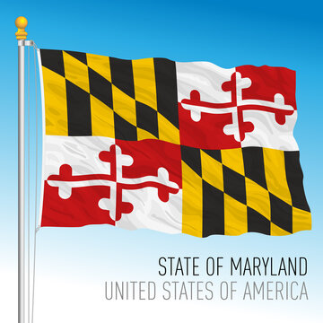 Maryland federal state flag, United States, vector illustration