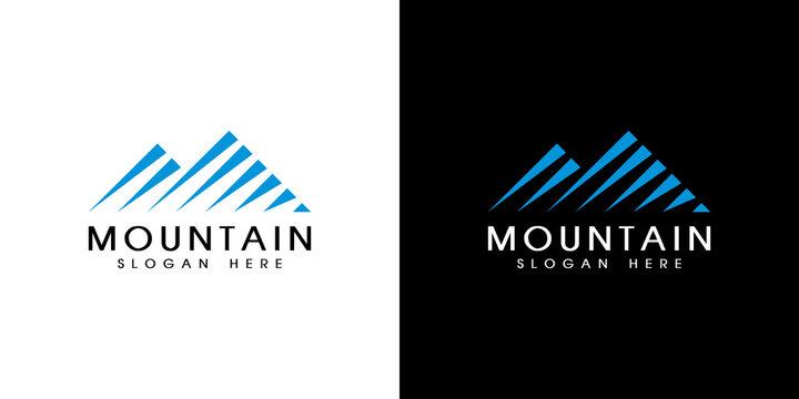 mountain logo vector design emblem