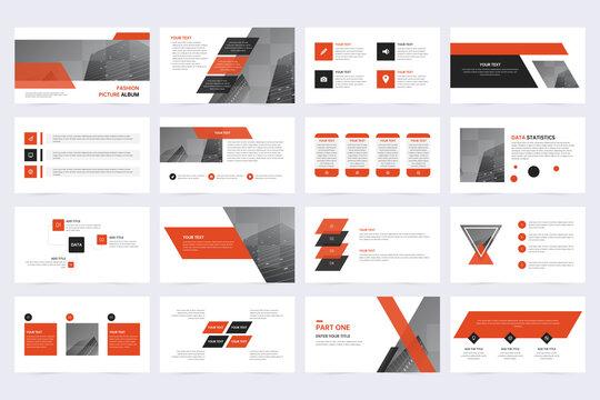 Business minimal slide presentation template