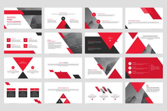 Company minimalistic vector slide presentation
