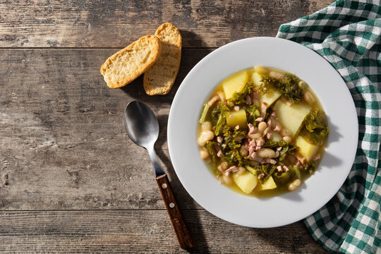 Creamy Tuscan soup in bowl