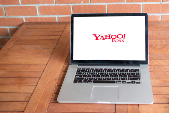 yahoo logo editorial illustrative