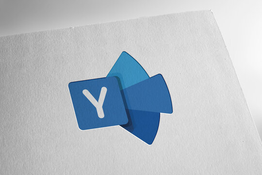 Yammer logo editorial illustrative