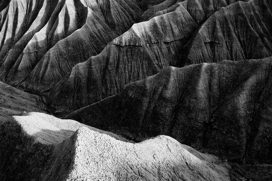 The desert landscape of the Bardenas Reales in Navarra, Spain