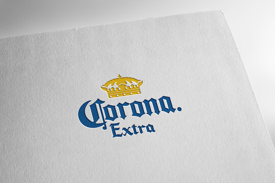 Corona extra logo editorial illustrative, on screen