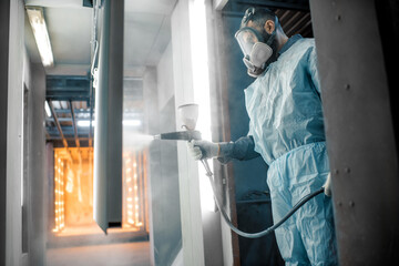 Obraz Powder coating process of metal products - fototapety do salonu