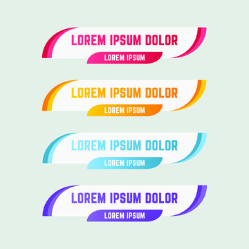 Gradient web lower third banners template