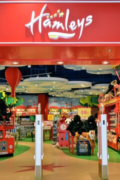 Open Hamleys toy store. First and only Hamleys toy shop in Poland. The oldest and largest toy shop in the world and one of the world's best-known retailers of toys. Warsaw, Poland - October 26 2018