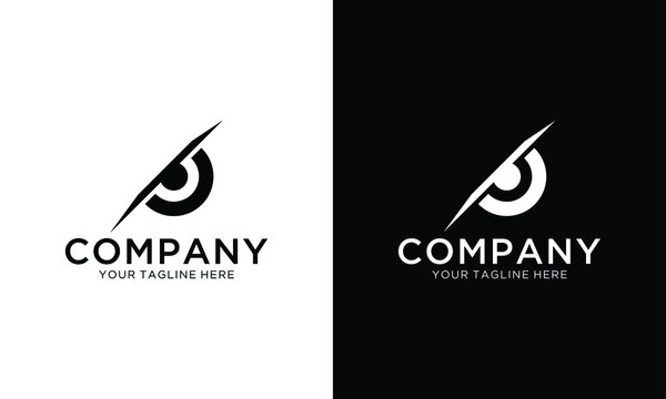 The always watching owl eye concept elements icon logo