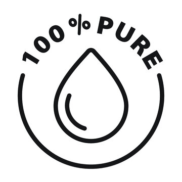100% pure black and white outline badge icon
