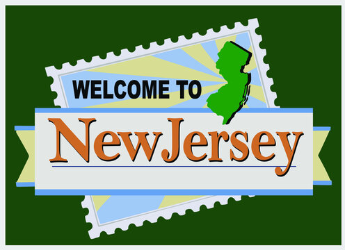 Welcome to New Jersey sign with best quality