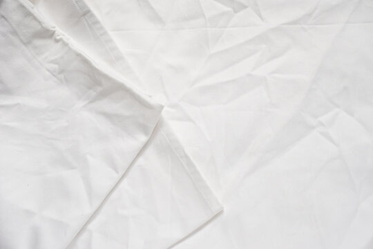 White Crumpled fabric for background