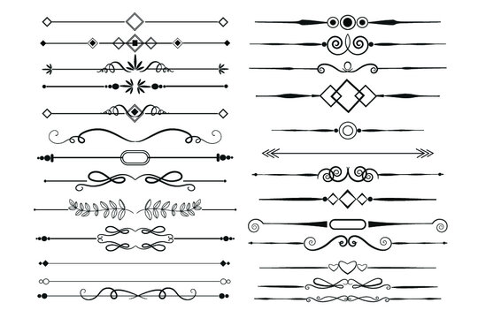 Calligraphic Ornamental Element Collection