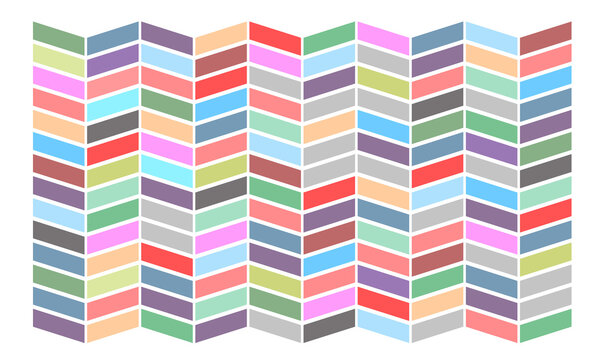 Multicolored background. Colored uniform shapes on a white background. Geometric multicolored texture. Multi-colored figures are parallel. Striking background for a website or advertisement.