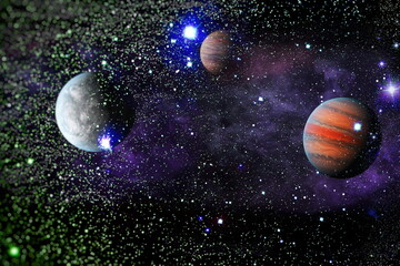 Galaxy, cosmos, physical cosmology, science fiction wallpaper.Beauty of universe. Elements furnished by NASA.