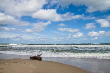 Letni widok na polskie morze