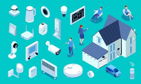 Smart Home Isometric Set