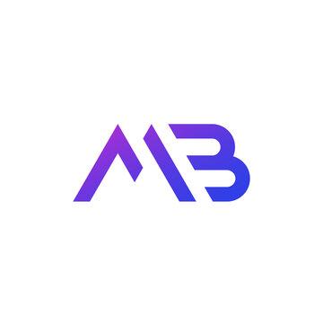 MB letters logo, monogram on white