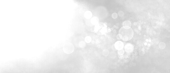 Obraz Sfondo bianco luce magica con bokeh, banner - fototapety do salonu