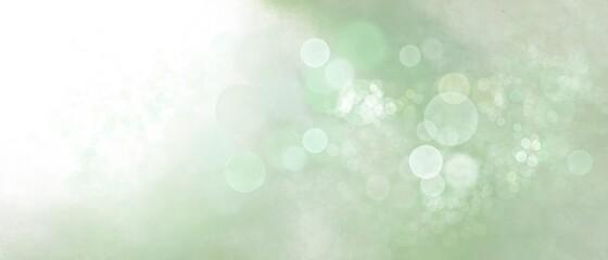 Sfondo banner verde con bokeh