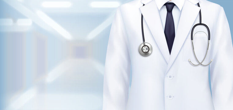 Doctors Uniform Realistic Background