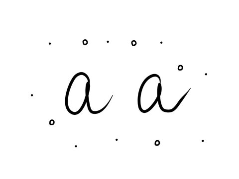 Aa absolute abstinence phrase handwritten. Lettering calligraphy text. Isolated word black modern