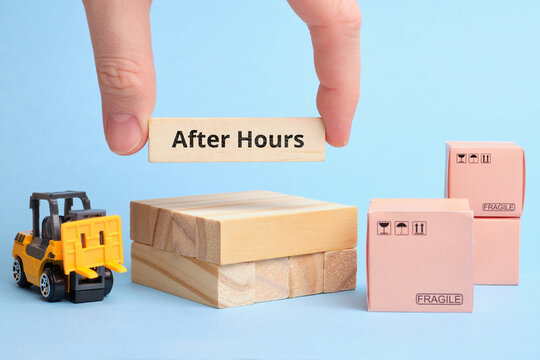 Courier Industry Term after hours. Delivery outside business hours.