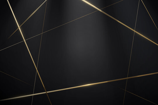 Abstract Black and gold lines with a luxury background. Vector illustration