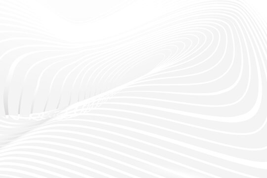 Abstract white wave background. Vector illustration. Futuristic Technology Design. Vector illustration