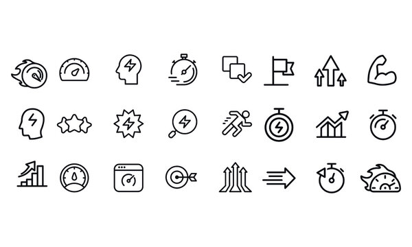 Performance Icons vector design