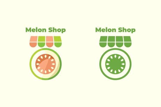 Set logo molon shop color and line art