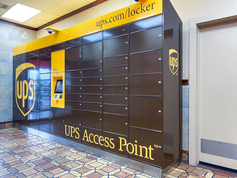 Ups delivery lockers inside building