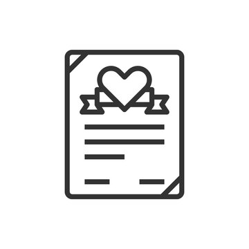 Heart Contract Love Icon Or Logo Vector Illustration