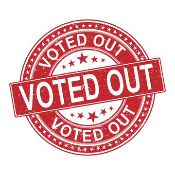 vote out. stamp. black round grunge vintage vote sign
