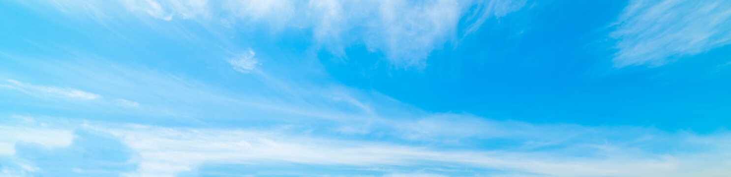 Blue sky with clouds in springtime