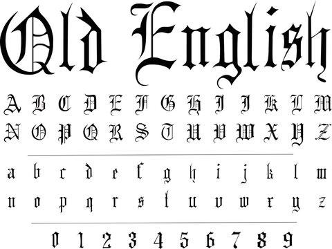 Original gothic font - vector  alphabet