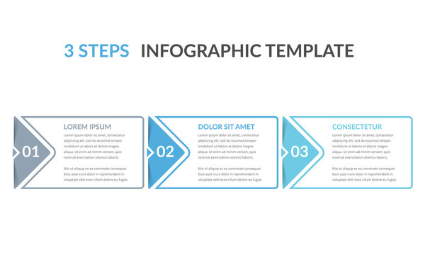 3 Steps - Infographic Template