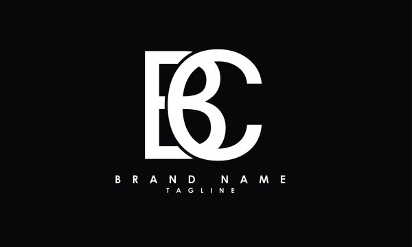 Alphabet letters Initials Monogram logo BC, CB, B and C