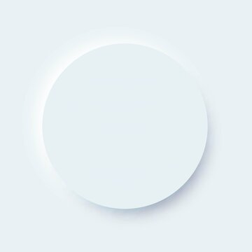 Vector neumorphic design UI circle element for mobile app and website interface.