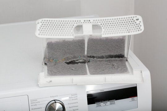 Dirty filter from clothes dryer.