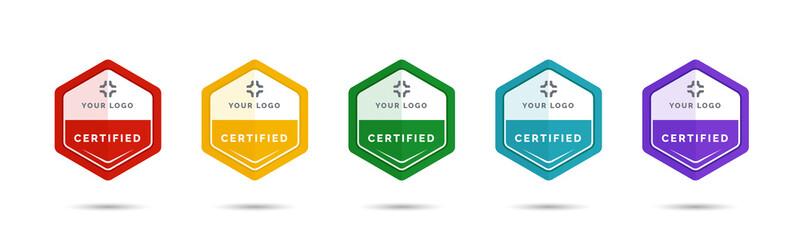 Obraz Set of company training badge certificates to determine based on criteria. Vector illustration certified logo design. - fototapety do salonu