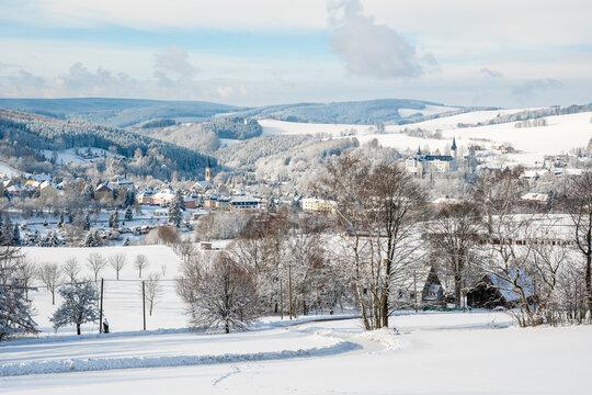 Winterlandschaft Erzgebirge Neuhausen
