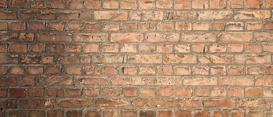 Horizontal brick wall texture