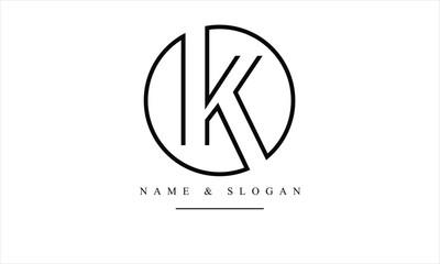 Fototapeta OK, KO, O, K abstract letters logo monogram obraz